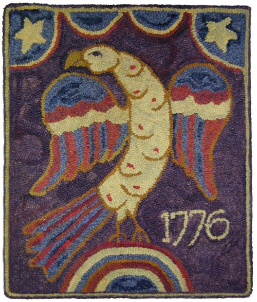 1776 INDEPENDENCE EAGLE 18H X 16W    Linen $48