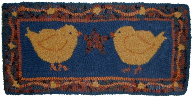 CHICKS AND STAR 7H X 14  W  Linen $25