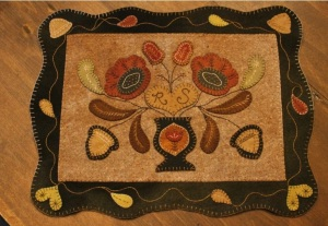 Class Project Woolley Table Mat w/o border $125 or with the border $155