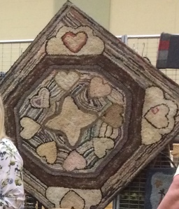 1895 Heritage Hearts Antique Rug