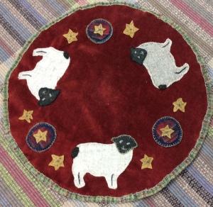 Baa, Baa Sheep Applique on Velvet